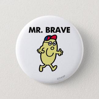 Mr. Brave Waving Hello 2 Inch Round Button