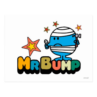 Mr. Bump | Bandaged Thumb & Stars Postcard