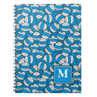 Mr Bump | Blue Confusion Pattern | Add Your Name Spiral Notebook