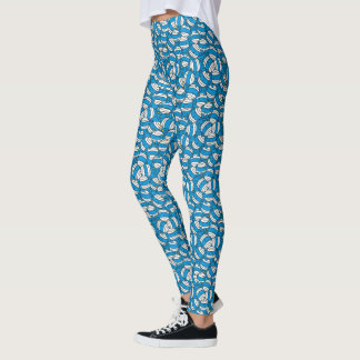 Mr Bump | Blue Confusion Pattern Leggings