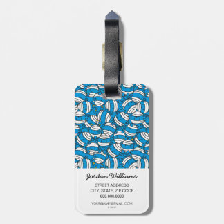 Mr Bump | Blue Confusion Pattern Luggage Tag