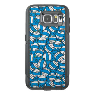 Mr Bump   Blue Confusion Pattern OtterBox Samsung Galaxy S6 Case