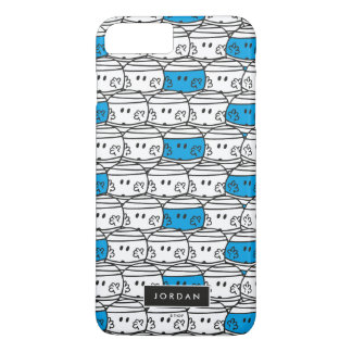 Mr Bump | Blue Pattern | Add Your Name iPhone 7 Plus Case