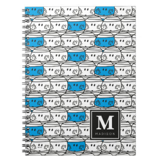 Mr Bump | Blue Pattern | Add Your Name Spiral Note Book