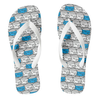 Mr Bump | Blue Pattern Flip Flops