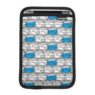 Mr Bump   Blue Pattern iPad Mini Sleeve