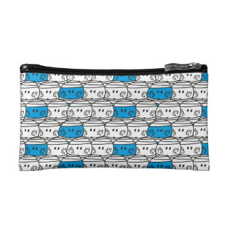 Mr Bump | Blue Pattern Makeup Bag