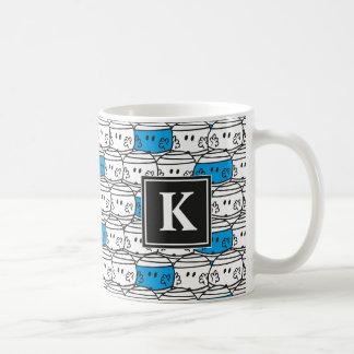 Mr Bump | Blue Pattern | Monogram Coffee Mug