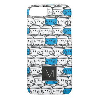 Mr Bump | Blue Pattern | Monogram iPhone 8/7 Case
