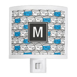 Mr Bump | Blue Pattern | Monogram Night Lites