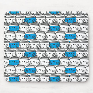 Mr Bump | Blue Pattern Mouse Pad