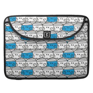 Mr Bump | Blue Pattern Sleeve For MacBooks