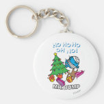 Mr. Bump Decorating A Christmas Tree Basic Round Button Keychain