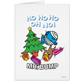 Mr. Bump Decorating A Christmas Tree Greeting Card