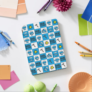 Mr Bump | Mosaic In Blue Pattern iPad Air Cover