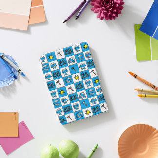 Mr Bump | Mosaic In Blue Pattern iPad Mini Cover