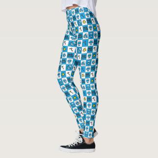 Mr Bump | Mosaic In Blue Pattern Leggings