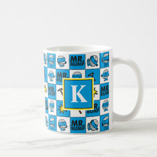 Mr Bump | Mosaic In Blue Pattern | Monogram Coffee Mug