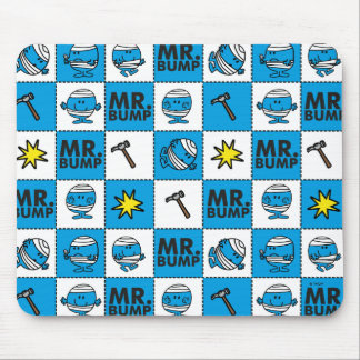 Mr Bump | Mosaic In Blue Pattern Mouse Pad