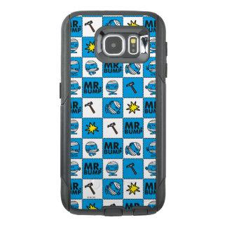 Mr Bump   Mosaic In Blue Pattern OtterBox Samsung Galaxy S6 Case