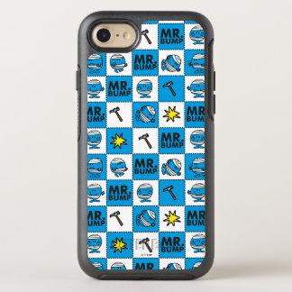 Mr Bump   Mosaic In Blue Pattern OtterBox Symmetry iPhone 7 Case
