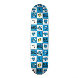 Mr Bump | Mosaic In Blue Pattern Skate Deck
