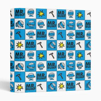 Mr Bump | Mosaic In Blue Pattern Vinyl Binder