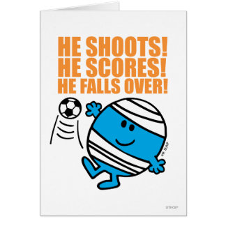 Mr. Bump Playing Soccer Greeting Card