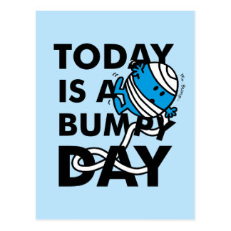 Mr. Bump | Today is a Bumpy Day Postcard