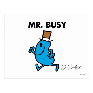 Mr. Busy Running Quickly Postcard
