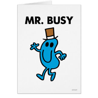 Mr. Busy Waving Hello Greeting Card