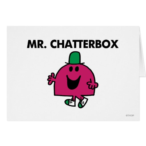 Mr Chatterbox Classic Greeting Card