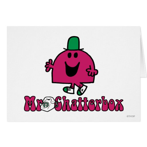 Mr Chatterbox Logo 2 Card