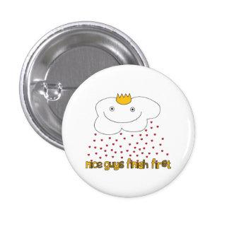 mr. cloud is raining love 1 inch round button