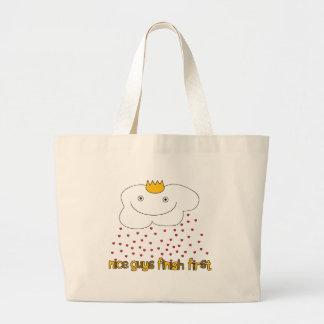 mr. cloud is raining love large tote bag