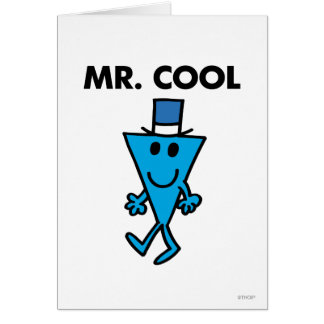 Mr Cool Classic Greeting Card