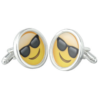 Mr. Cool Emoji Cuff Links