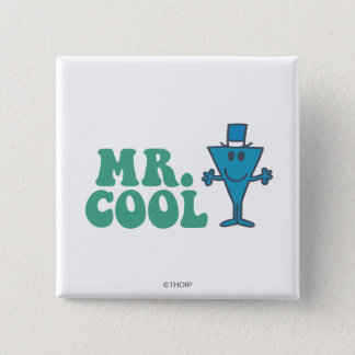 Mr. Cool   Logo Design 2 Inch Square Button