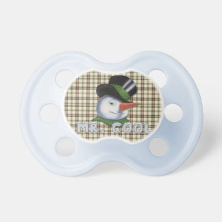 Mr. Cool - Snowman Baby Pacifiers