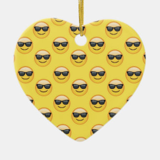 Mr Cool Sunglasses Emoji Ceramic Ornament