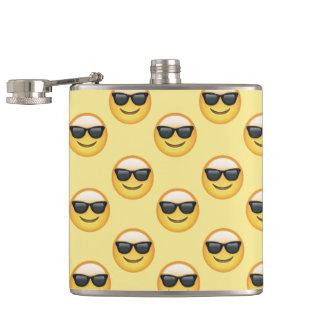 Mr Cool Sunglasses Emoji Hip Flask