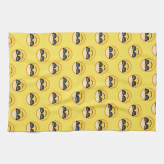 Mr Cool Sunglasses Emoji Kitchen Towel