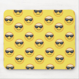 Mr Cool Sunglasses Emoji Mouse Pad