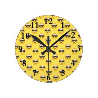 Mr Cool Sunglasses Emoji Round Clock
