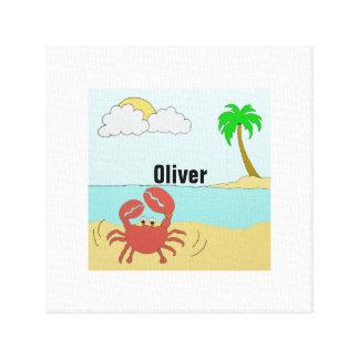 Mr Crab at the beach Canvas Print