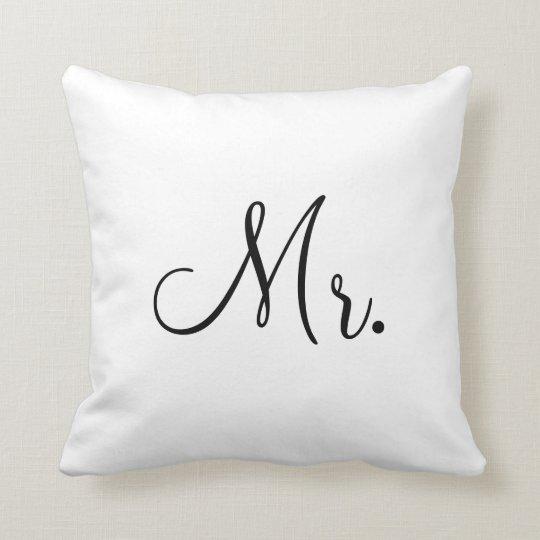 Mr.Customized Throw Pillow