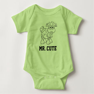 Mr. Cute - Baby Cow Boy With Pacifier - Body Suit Baby Bodysuit