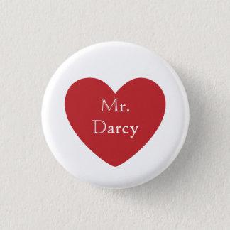 Mr. Darcy 1 Inch Round Button
