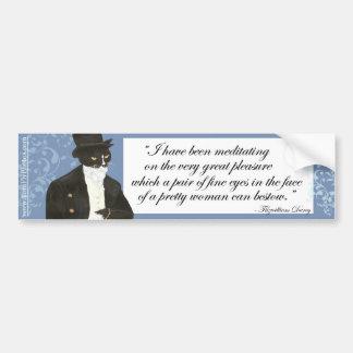 Mr Darcy bumper sticker Car Bumper Sticker