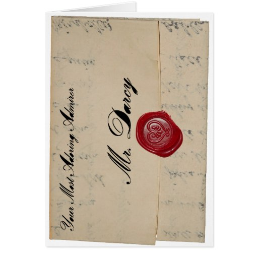 Mr Darcy Love Letter Card